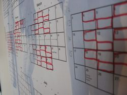 Planning Calendar on My Wall